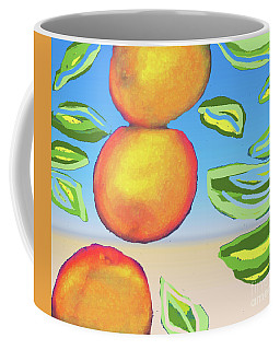 Three Oranges Altered Coffee Mug
