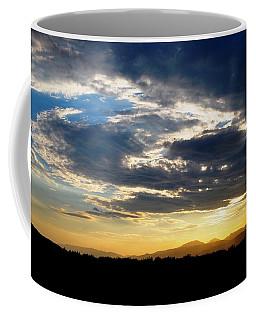 Three Peak Sunset Swirl Skyscape Coffee Mug