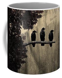 Three Ravens Branch Out Coffee Mug