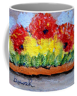 Three Red Flowers Coffee Mug