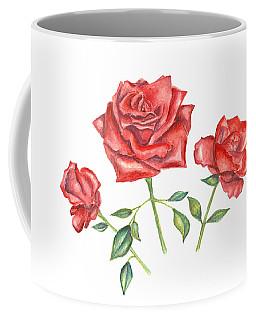 Three Red Roses Coffee Mug