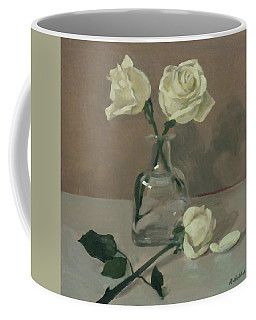 Three Roses In A Tequila Bottle Coffee Mug