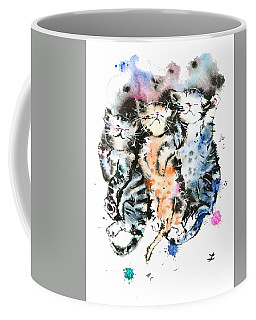 Three Sleeping Kittens Coffee Mug by Zaira Dzhaubaeva