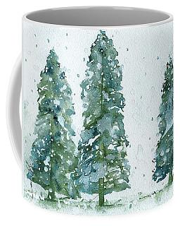 Three Snowy Spruce Trees Coffee Mug