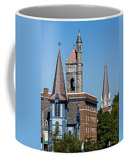 Three Steeples Of St Johnsbury Vermont Coffee Mug by Tim Kirchoff