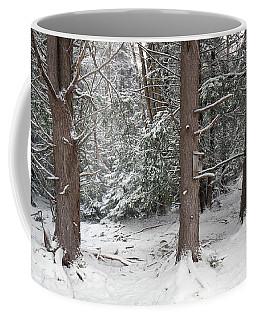 Three Trees In The Snow Coffee Mug