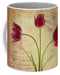 Three Tulips Letter Coffee Mug