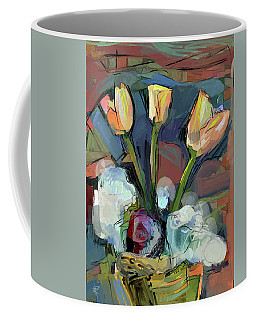 Three Tulips Coffee Mug