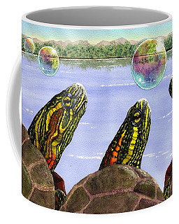 Three Turtles Three Bubbles Coffee Mug