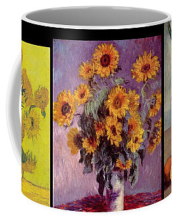 Three Vases Van Gogh - Cezanne Coffee Mug by David Bridburg