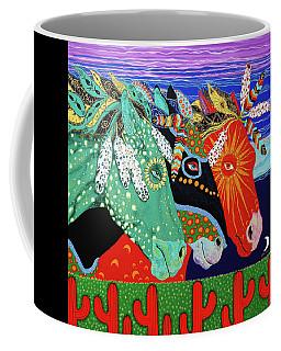 Three Visions Coffee Mug by Debbie Chamberlin