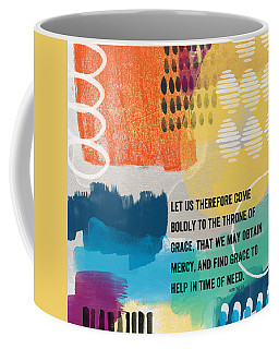 Throne Of Grace- Contemporary Christian Art By Linda Woods. Coffee Mug