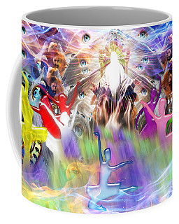 Coffee Mug featuring the digital art Throneroom Dance by Dolores Develde