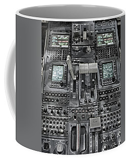 Coffee Mug featuring the photograph Throttle And Flaps by Guy Whiteley