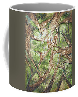 Through Lacy Branches Coffee Mug