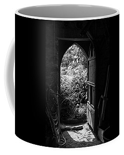 Coffee Mug featuring the photograph Through The Door by Clare Bambers