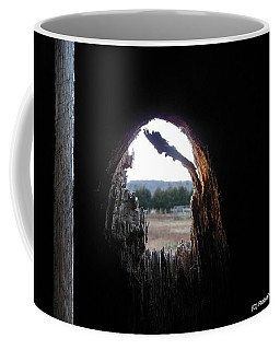Through The Knot Hole Coffee Mug