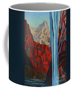 Coffee Mug featuring the painting Through The Narrows, Zion by Erin Fickert-Rowland