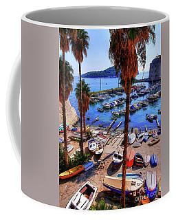 Through The Trees Dubrovnik Harbour Coffee Mug