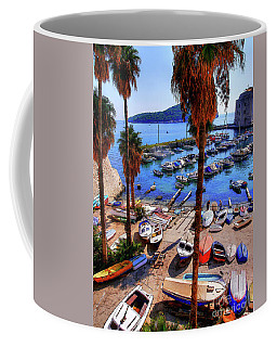 Through The Trees Dubrovnik Harbour Coffee Mug