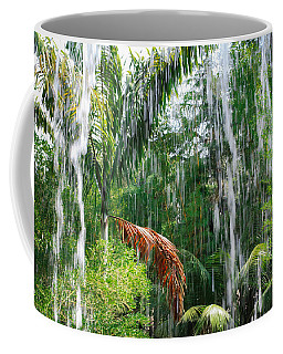 Coffee Mug featuring the photograph Through The Waterfall by Alison Frank