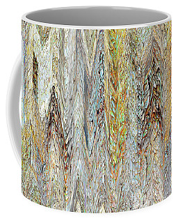 Through Tiny Cracks In The Boardwalk Coffee Mug by Danica Radman