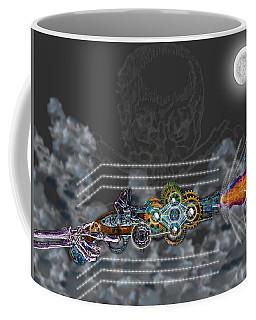 Coffee Mug featuring the digital art Thunder Gun Of The Dead by Iowan Stone-Flowers