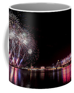 Thunder Over Louisville Coffee Mug by Andrea Silies