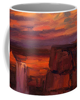 Coffee Mug featuring the painting Thundercloud Over The Palouse by Steve Henderson