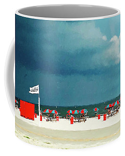 Thunderstorm Over Gulfport Mississippi Gulf Coast Coffee Mug by Rebecca Korpita