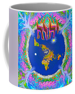 Y H W H Creation Mandala Flat Earth Coffee Mug