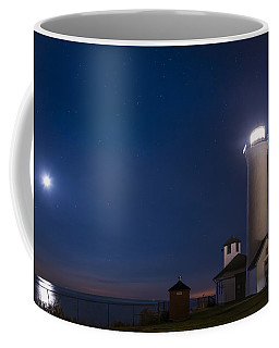 Coffee Mug featuring the photograph Tibbets Point Night by Mark Papke