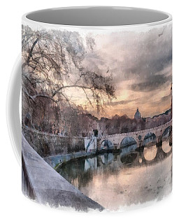 Tiber - Aquarelle Coffee Mug by Sergey Simanovsky