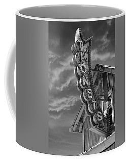 Coffee Mug featuring the photograph Tickets Bw by Laura Fasulo