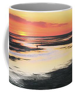 Tidal Flats At Sunset Coffee Mug