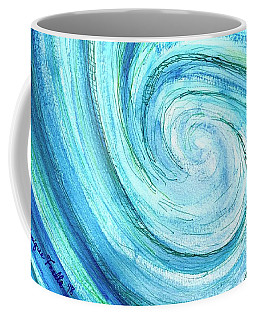 Coffee Mug featuring the painting Tidal by Monique Faella