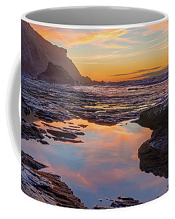 Coffee Mug featuring the photograph Tidal Pool At Sunset by Dmytro Korol