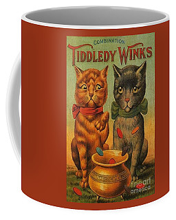 Tiddledy Winks Funny Victorian Cats Coffee Mug by Peter Gumaer Ogden Collection