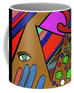 Tie Dye Abstract Coffee Mug by David Jackson