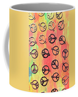 Tie-dye Peace Pendants Coffee Mug