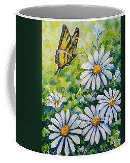Tiger And Daisies  Coffee Mug