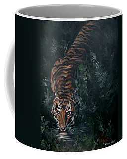 Coffee Mug featuring the painting Tiger by Bryan Bustard