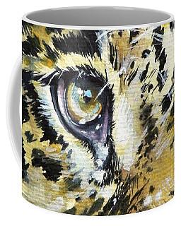 Coffee Mug featuring the painting Tiger Eyes by Kovacs Anna Brigitta