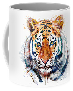 Tiger Head Watercolor Coffee Mug
