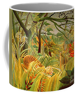 Tiger In A Tropical Storm Coffee Mug