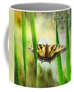 Tiger In The Grass Coffee Mug