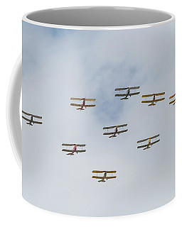 Coffee Mug featuring the photograph Tiger Moth Formation by Gary Eason