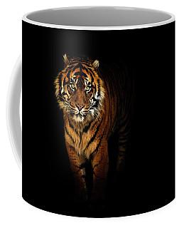Tiger On A Black Background Coffee Mug