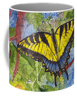 Tiger Swallowtail Watercolor Batik On Rice Paper Coffee Mug