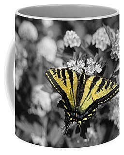 Tiger Swallowtail Butterfly Selective Color Coffee Mug
